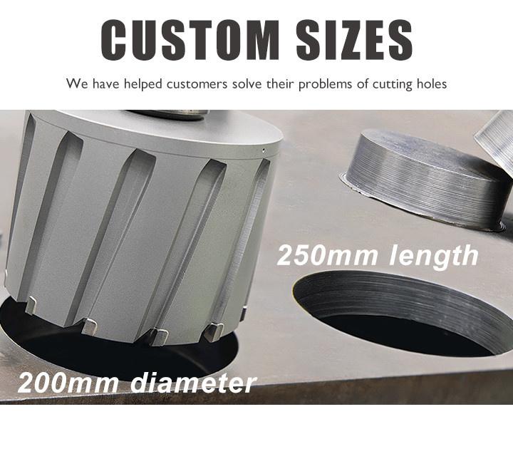 Custom sizes of annular cutters