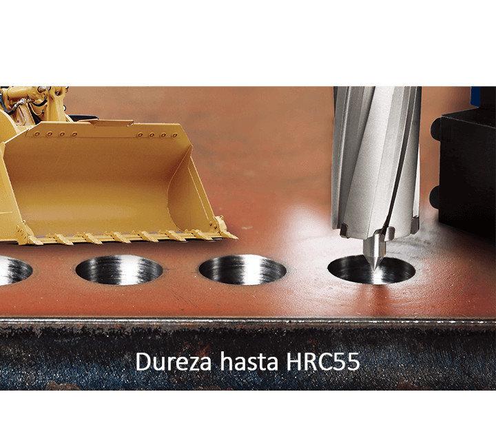 Perforando en Hardox-Capacidad de Corte de HRC 40 a HRC 55