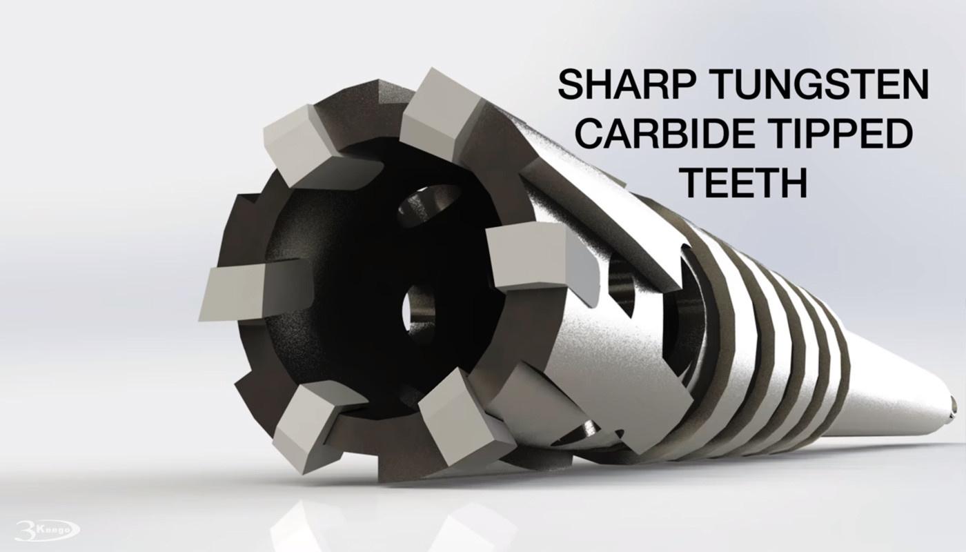 Tungsten Carbide Tipped (TCT) Head of rebar cutter