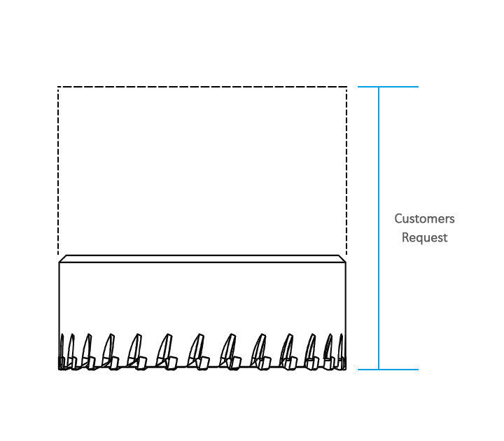 3keegoはお客様のニーズに基づいてカッターの長さを作ります。
