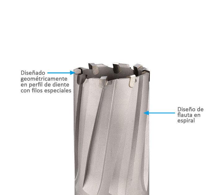 El 3keego tipo HC está la mejor opción para perforar placas de acero gruesas.