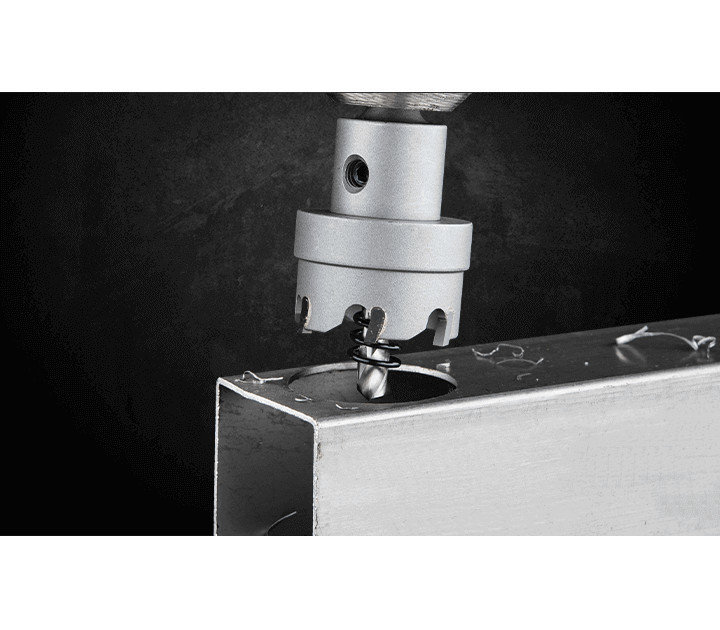 3keego hole cutter HF type is ideal for thin metal sheets.