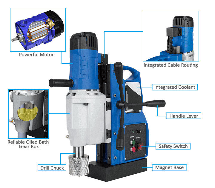 3keego magnetic drilling machine SMD75B power and durability.