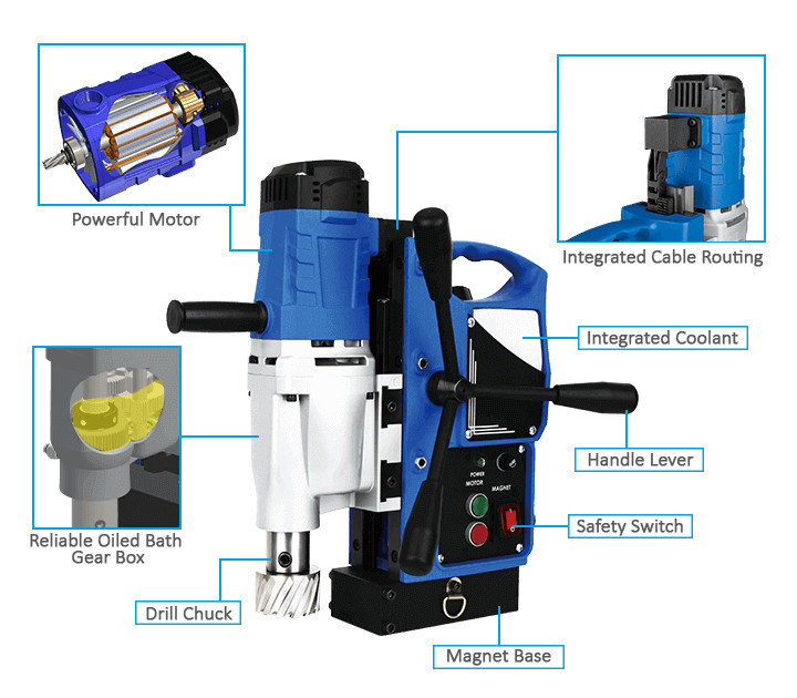 3keego magnetic drilling machine SMD35 power and durability.