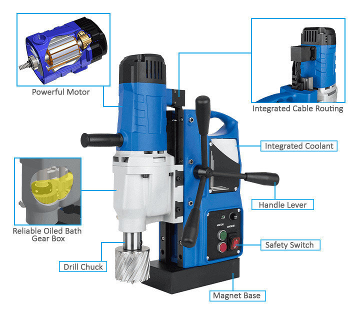 3keego magnetic drilling machine SMD50B power and durability.
