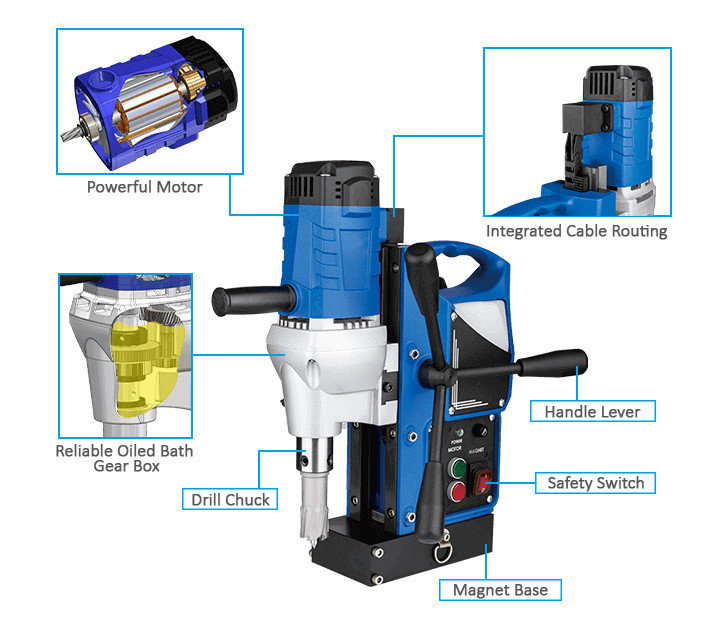 3keego magnetic drilling machine SMD35B power and durability.